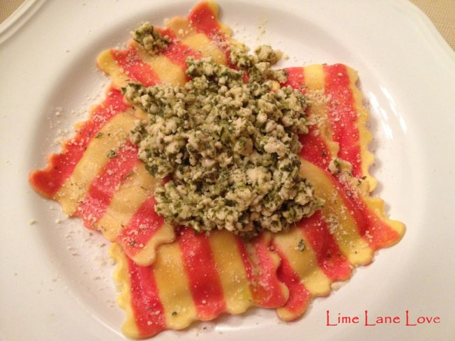 Butternut-Squash-Ravioli-with-Ground-Turkey-Pesto-by-Lime-Lane-Love