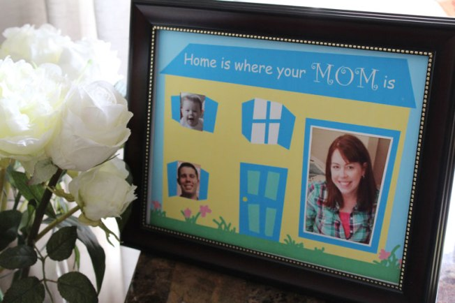 Home is where your Mom is--Printable Frame Mother's Day Gift