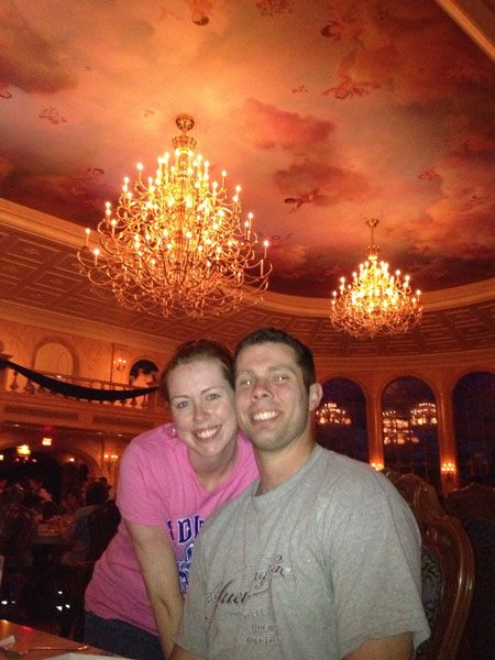 Dinner at Beauty and the Beast's Castle in the Magic Kingdom at Walt Disney World (pictures from limelanelove.com)