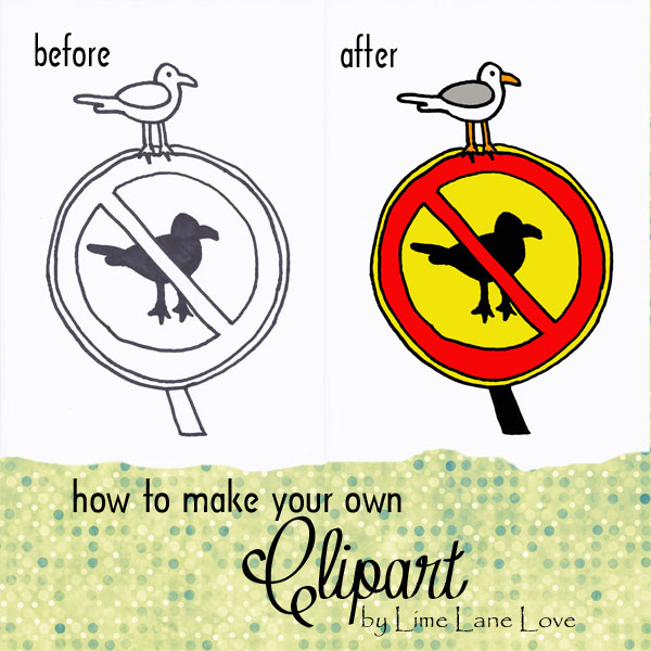 How to make your own clipart by Lime Lane Love